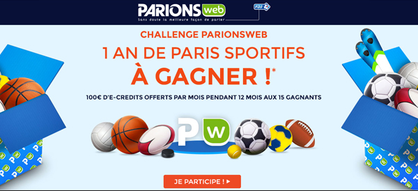ParionsWeb: 1 an de paris sportifs à gagner