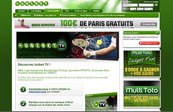 Vidéo sur Unibet TV