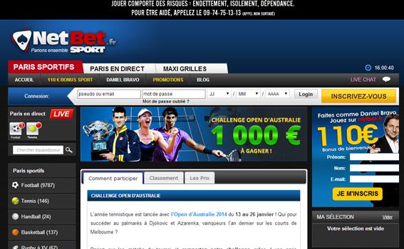 Netbet : Tennis et Open d'Australie