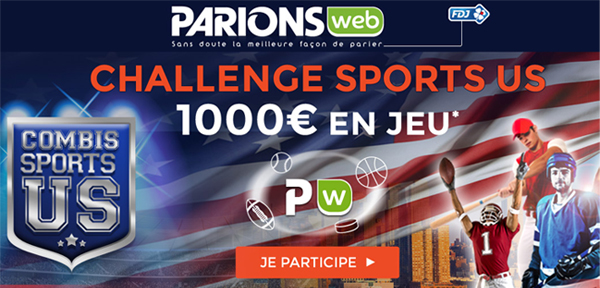 Sports US chez ParionsWeb