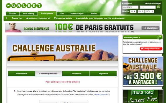 Unibet Challenge Australie