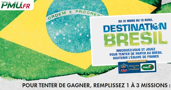 PMU : Voyage et Coupe du Monde au Brésil 2014