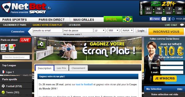 Gagnez un écran plat chez Netbet Sport