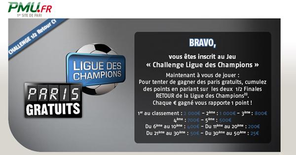 PMU : Retour Ligue des Champions