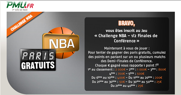 PMU : Bonus pour la NBA (basket)