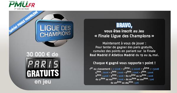 Concours finale de la Ligue des Champions 2014
