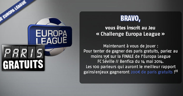Europa League : Challenge PMU 2014