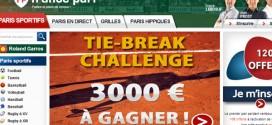 France Pari : Tie Break Challenge, Roland Garros 2014