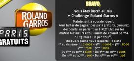 PMU : Concours Roland Garros 2014