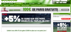 Unibet : Paris en direct, 5% de bonus