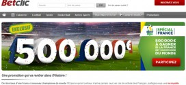 BetClic : 500.000€ si la France est championne