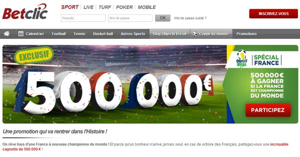 Calendrier Betclic.Betclic Distribue 500 000 Si La France Re Devient Championne