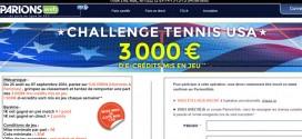 ParionsWeb : Challenge tennis USA