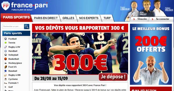 France Pari : Bonus proportionnel