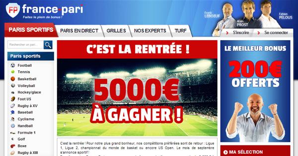 France Pari : Concours de 5000€ pour la rentrée