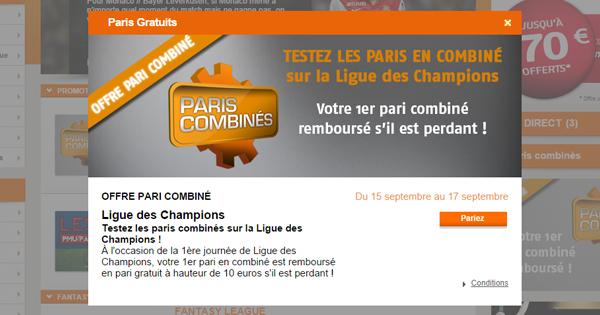 Paris combinés PMU