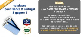 PMU : 10 places pour France Portugal