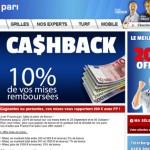 Cashback France Pari