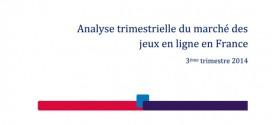 ARJEL : Résultats du T3 2014