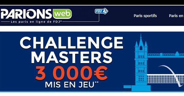 ParionsWeb : Masters de Londres