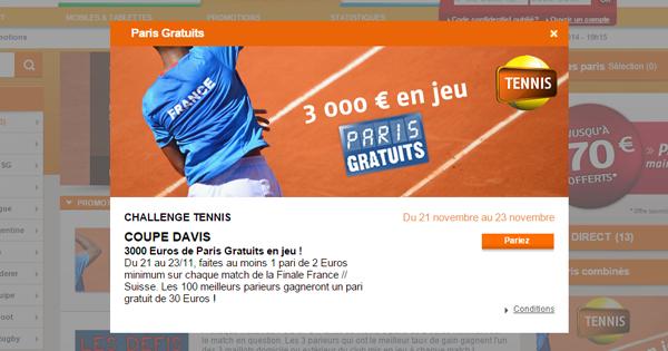 PMU : Pariez sur la Coupe Davis