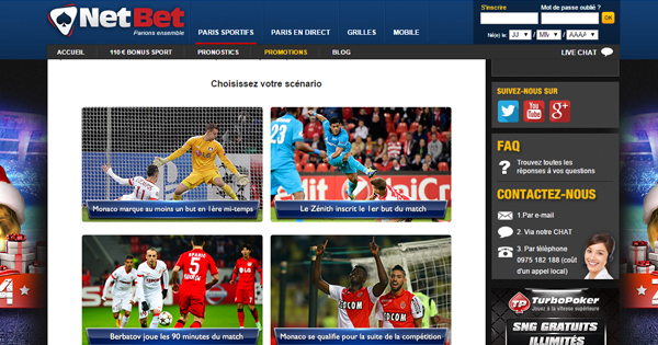 Cash Back chez Netbet