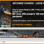 PMU : Seconde Chance PSG FCB