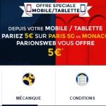 ParionsWeb offre un bonus sur PSG Monaco