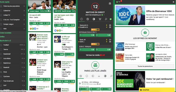 Unibet site paris sportif
