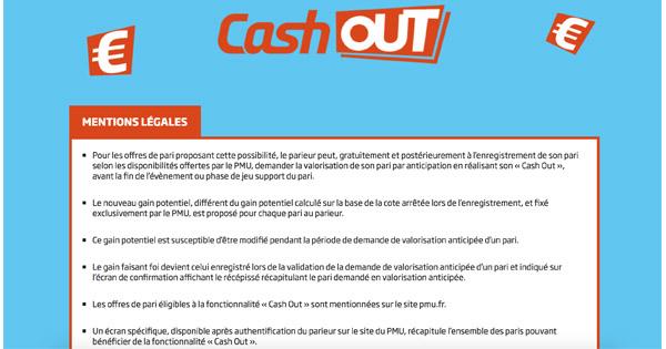 Cash Out PMU