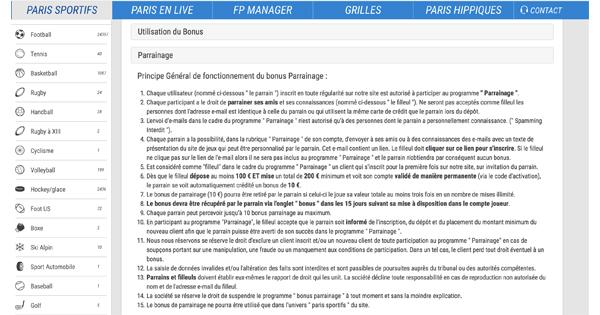Parrainage France Pari